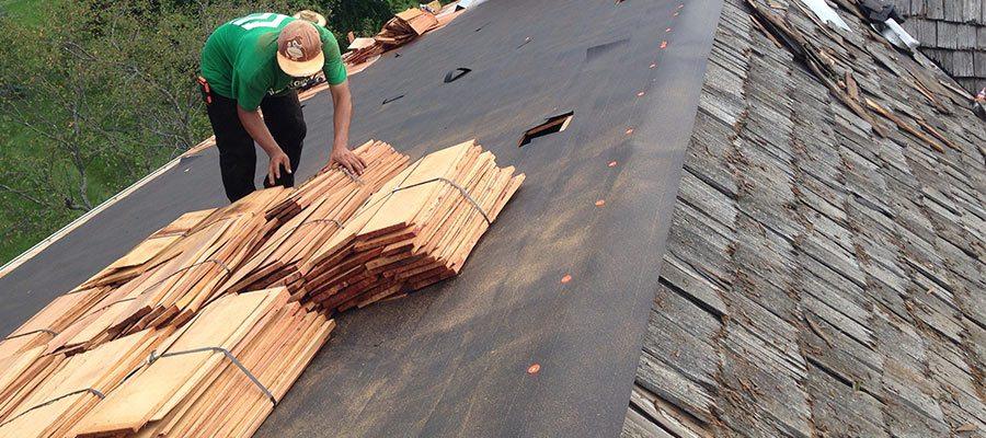 Long Grove, IL cedar roof rebuild