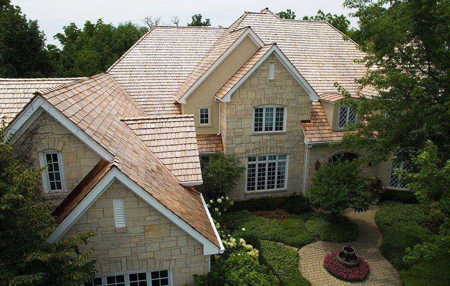 Recent Barrington, Illinois cedar roof replacement