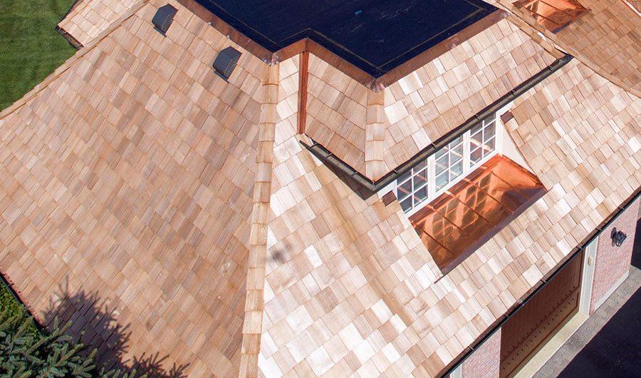 Recent Vernon Hills, Illinois cedar roof replacement